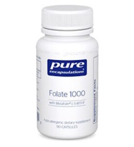 Pure Encapsulations Folate 1000 with Metafolin L-5-MTHF