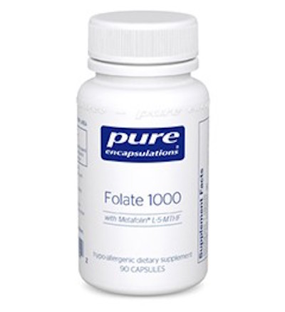 Pure Encapsulations Folate 1000 with Metafolin L-5-MTHF
