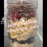 Berry Layered Overnight Oats with MegaSporeBiotic – Great for Gut Health